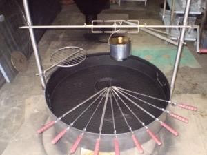 Как сделать круглый мангал из металла своими руками схемы чертежи